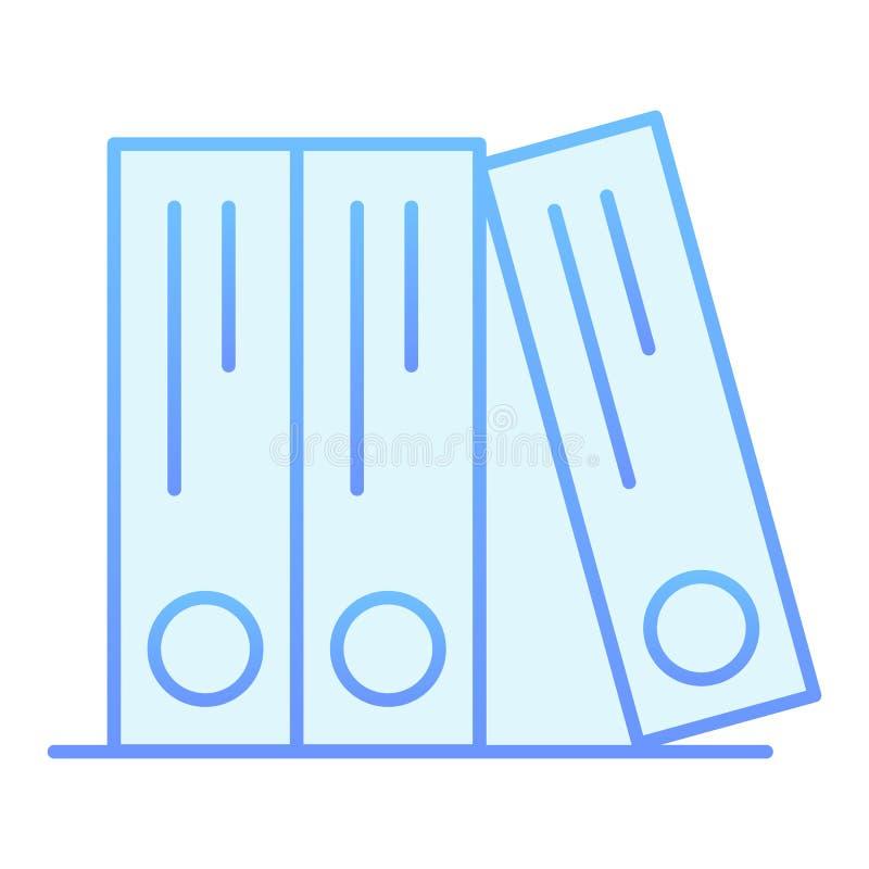 E Icônes bleues de dossiers de bureau dans le style plat à la mode r illustration de vecteur
