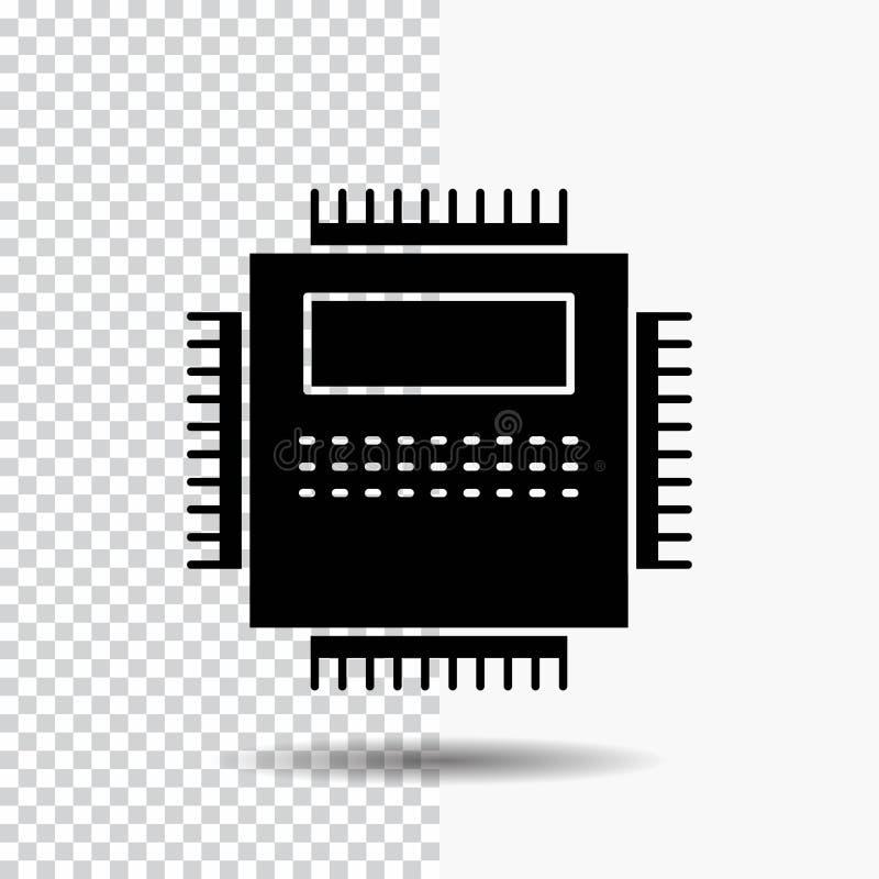 E Icono negro ilustración del vector