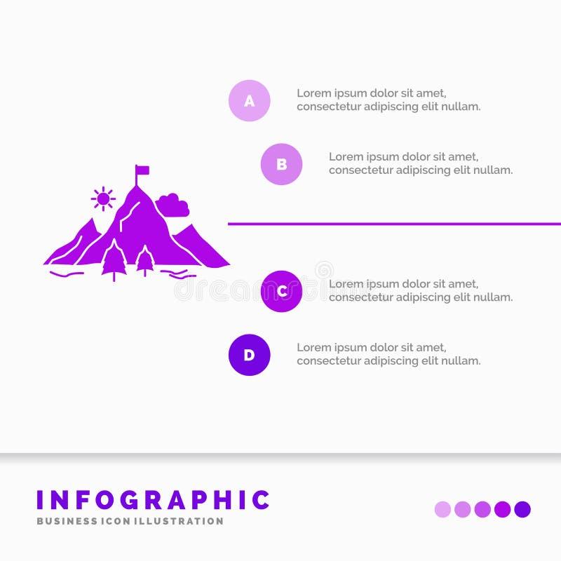 E Icono p?rpura del GLyph infographic libre illustration