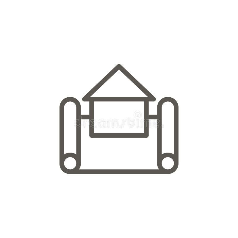 E Illustration simple d'?l?ment de concept d'UI r Vecteur de concept d'immobiliers illustration de vecteur