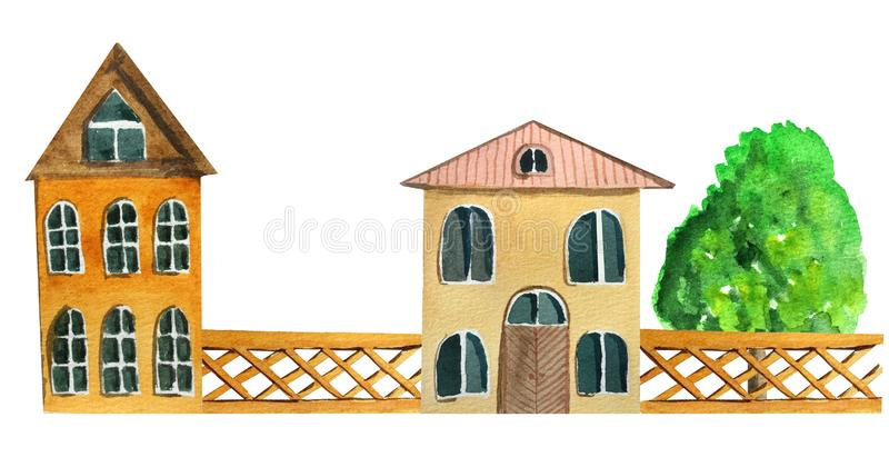 E Illustrazione dell'acquerello per progettazione royalty illustrazione gratis
