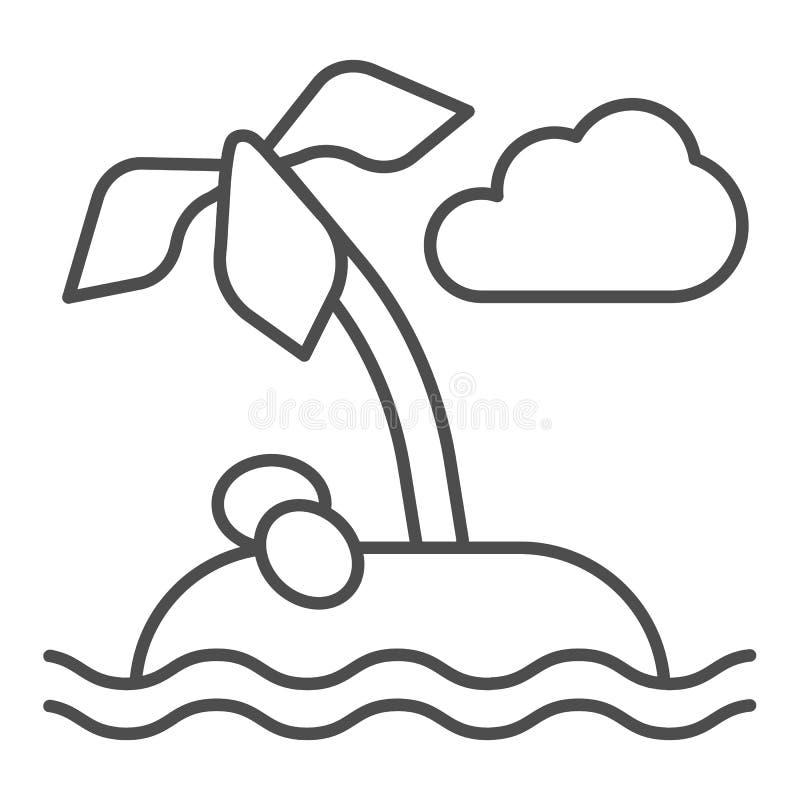 E Ilustração do vetor da palmeira isolada no branco r ilustração stock