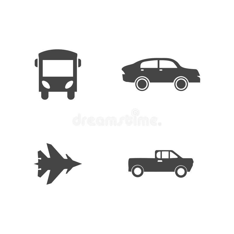 E Ilustraci?n del vector Iconos del coche ilustración del vector