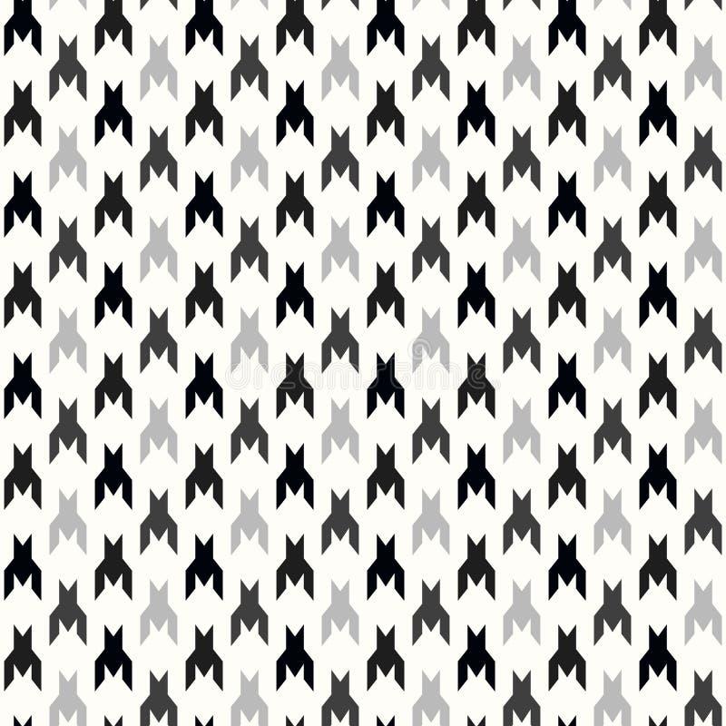 E Impresión geométrica en color blanco y negro r ilustración del vector
