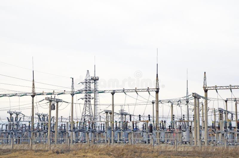 E Industria eléctrica Central eléctrica imagen de archivo
