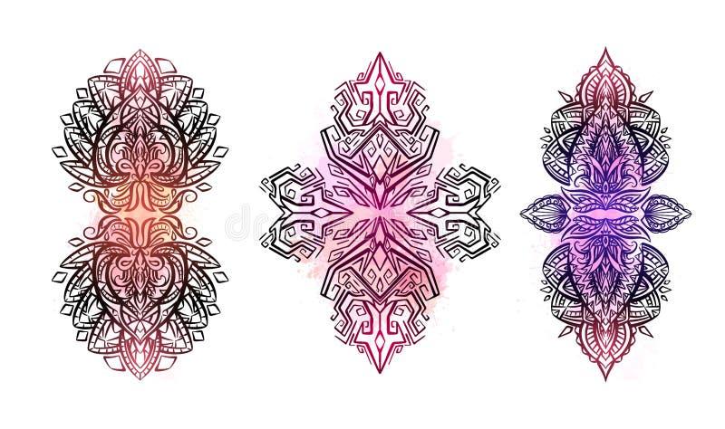 E Infött objekt är separat från bakgrunden vektor illustrationer