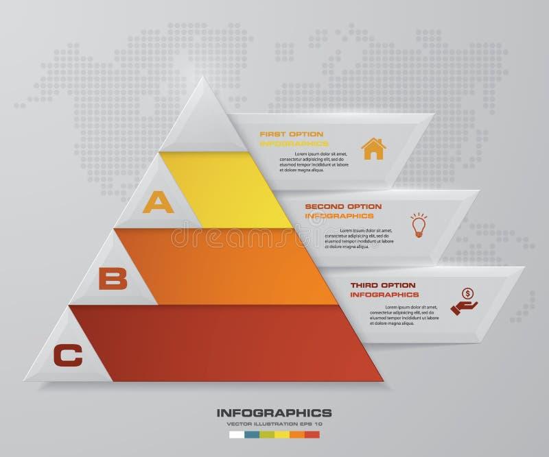 E infographics, presentaciones o publicidad stock de ilustración
