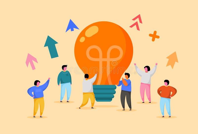 E Innowacja, Brainstorming, tw?rczo?ci poj?cie r ilustracja wektor