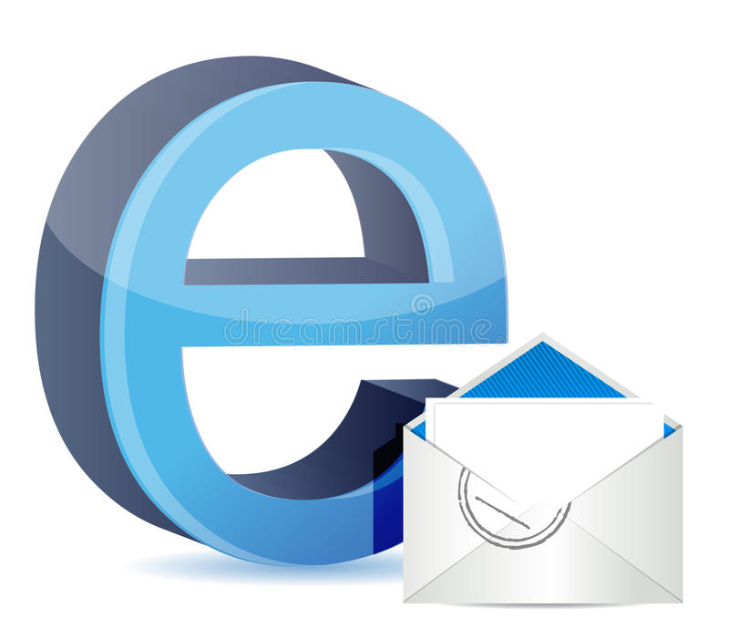 E For Internet And Mail Royalty Free Stock Photography