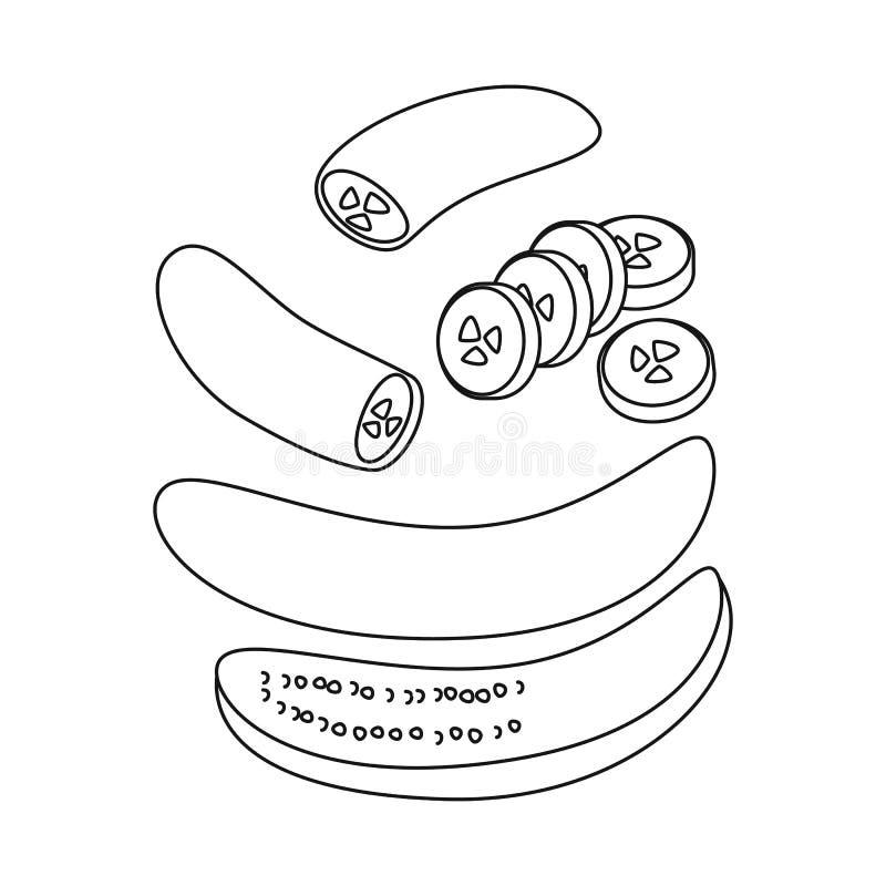 E Inzameling van banaan en gepeld vectorpictogram voor voorraad royalty-vrije illustratie