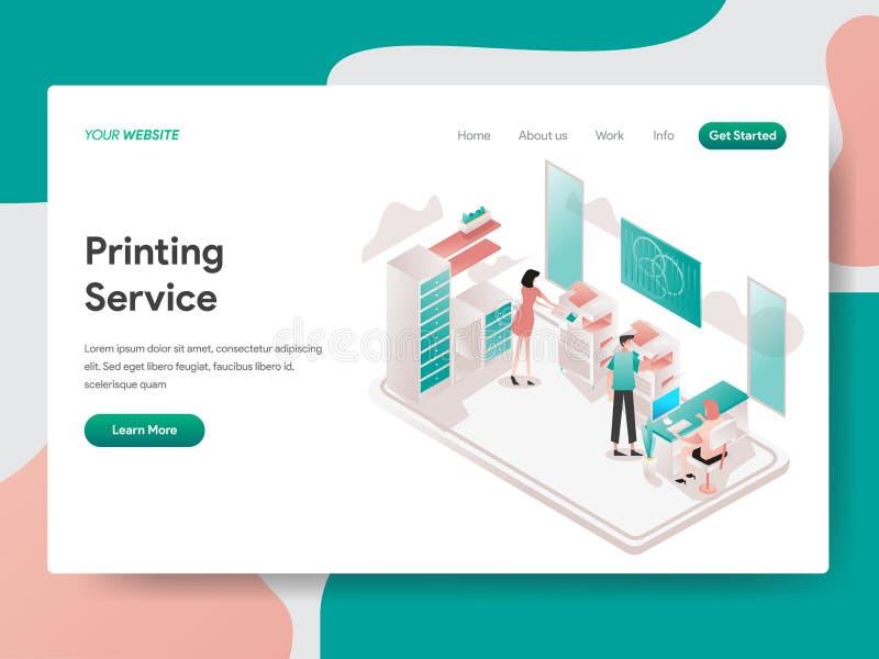 E Isometrisches Konzept des Entwurfes des Webseitenentwurfs f?r Website und Mobile stock abbildung