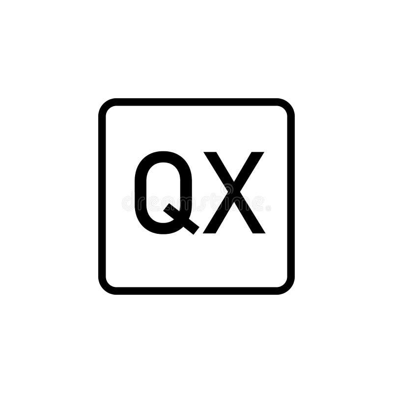 E Kann für Netz, Logo, mobiler App, UI, UX verwendet werden stock abbildung