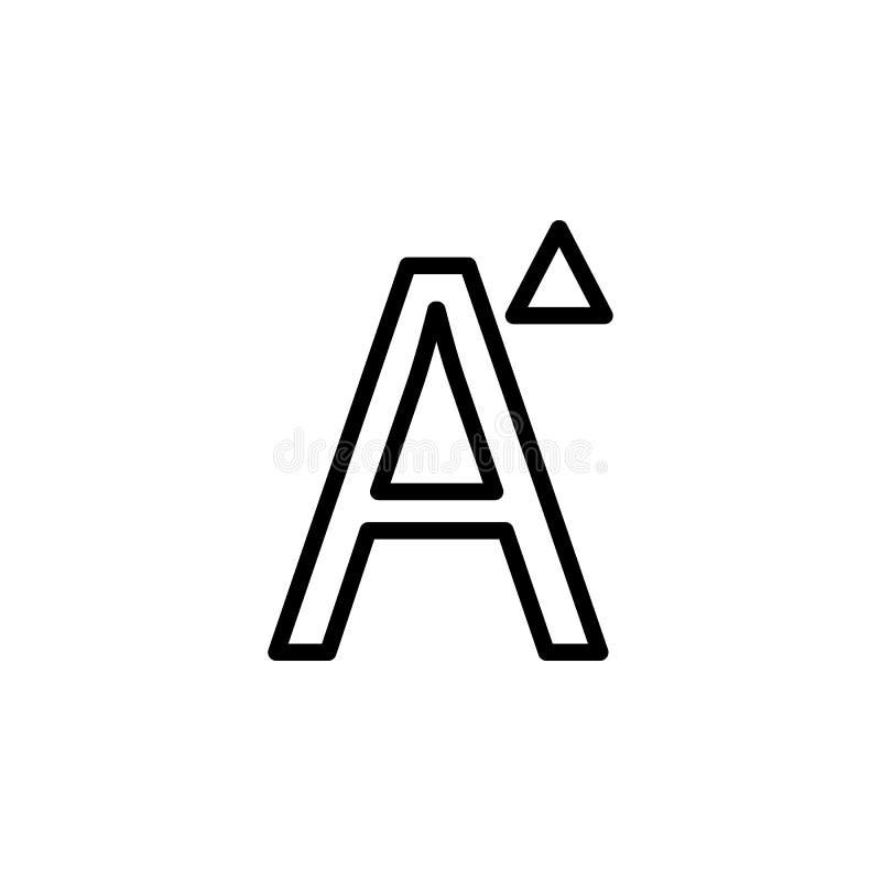 E Kann für Netz, Logo, mobiler App, UI, UX verwendet werden lizenzfreie abbildung