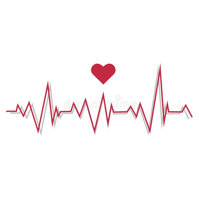 E kardiogram ilustracja wektor