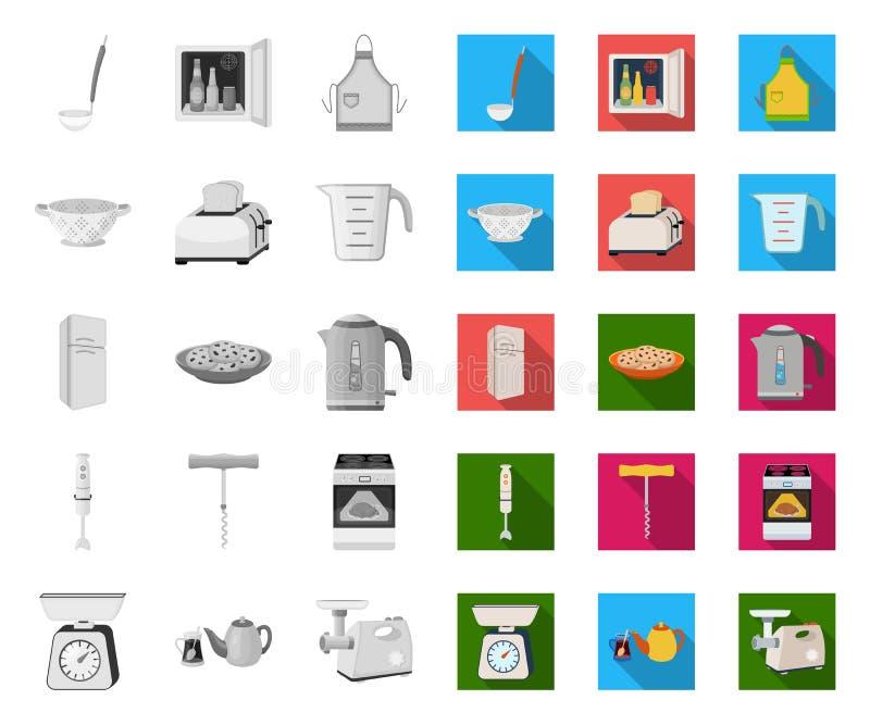 E Keuken en van het toebehoren vectorsymbool voorraadweb royalty-vrije illustratie