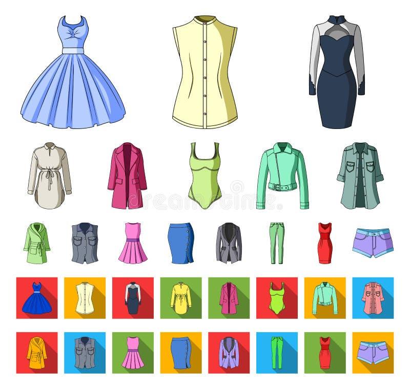 E Kleidungs-Vielzahl- und Zubehörvektorsymbolvorrat vektor abbildung