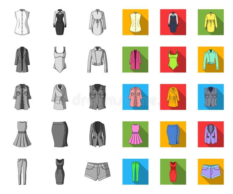 E Kleidungs-Vielzahl und Zubeh?r vector Netz des Symbols auf Lager vektor abbildung