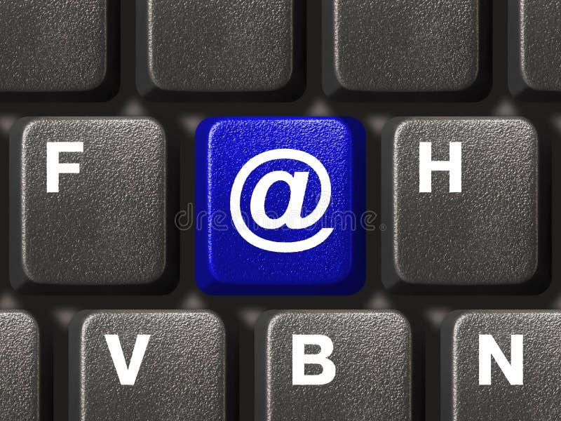 e klucza pocztę klawiaturowy komputera osobistego zdjęcia stock