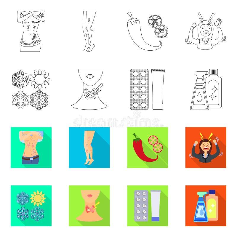 E Kolekcja medyczny i choroba akcyjny symbol dla sieci ilustracja wektor