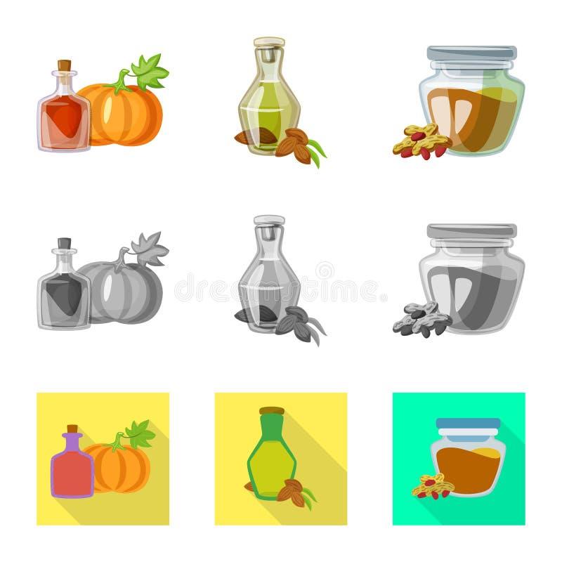 E Kolekcja zdrowa i rolnictwo wektorowa ikona dla zapasu ilustracja wektor
