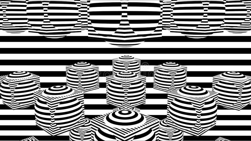 E Komputer wytwarzający abstrakcjonistyczny tło, 3D odpłaca się ilustracji