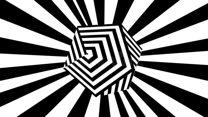 E Komputer wytwarzaj?cy abstrakcjonistyczny t?o, 3D odp?aca si? ilustracja wektor