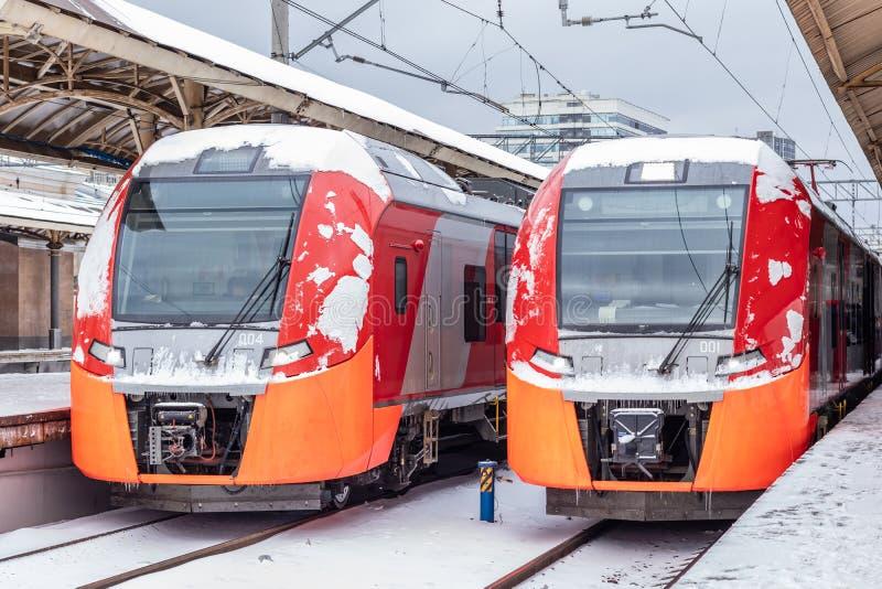 E Kursky stacja kolejowa, Moskwa, Rosja zdjęcie stock