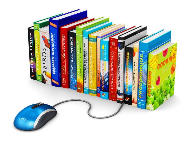 E-lära och online-utbildningsbegrepp stock illustrationer