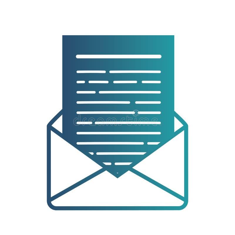 E Línea símbolo del correo para el diseño del sitio web, aplicación móvil, ui ilustración del vector