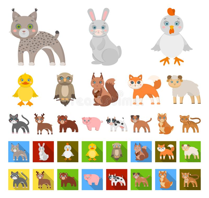 E L'oiseau, le prédateur et l'herbivore dirigent le Web courant de symbole illustration stock