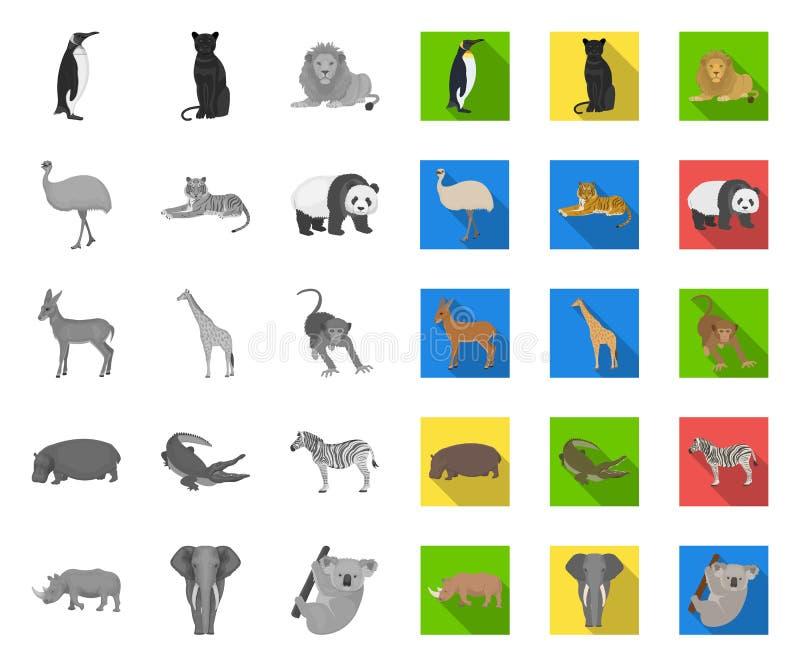E L'oiseau, le pr?dateur et l'herbivore dirigent le Web courant de symbole illustration stock