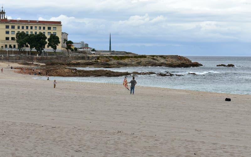E La Coruna, Espanha fotos de stock