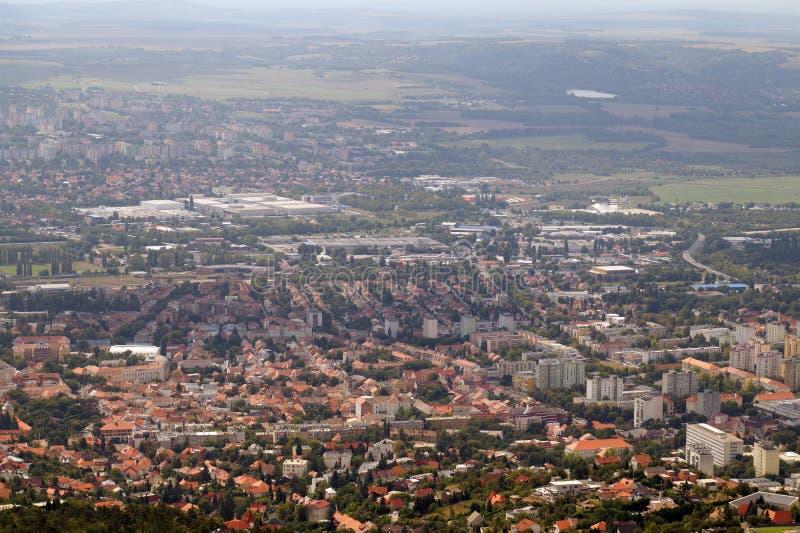 E La ville de Pécs dans la région du sud de la Hongrie photographie stock libre de droits