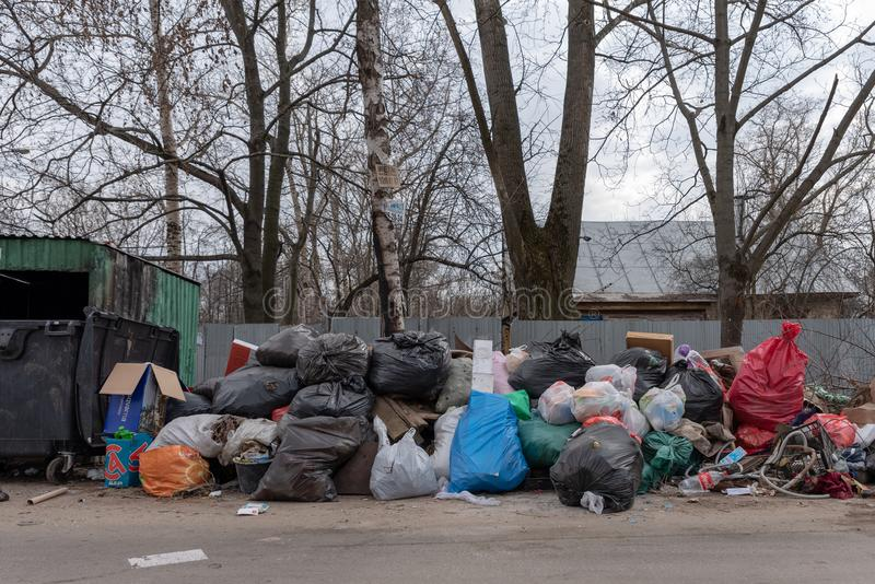 E landfill стоковое изображение rf