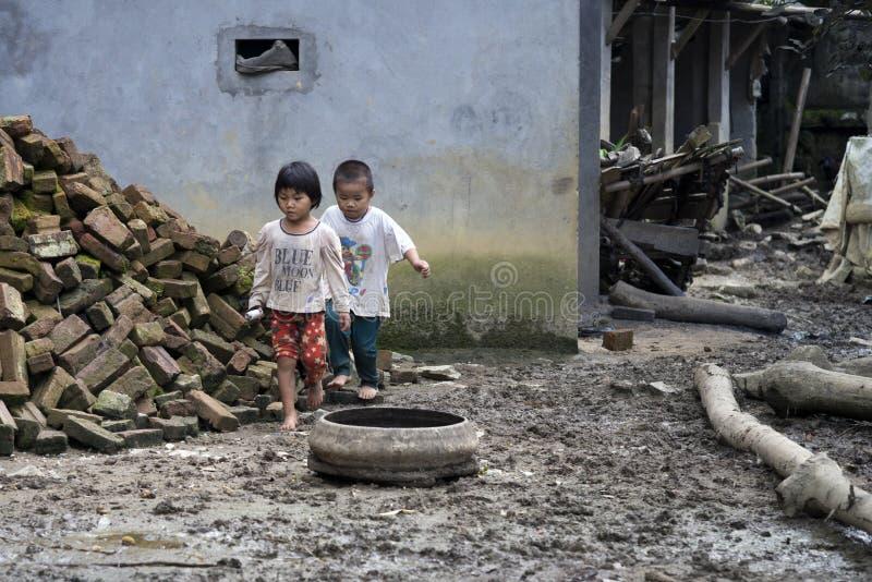 E Laos cai, Vietnam royalty-vrije stock foto's