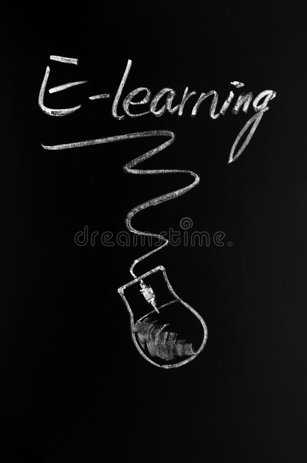 Download E-learning stock image. Image of chalkboard, conceptual - 22643263