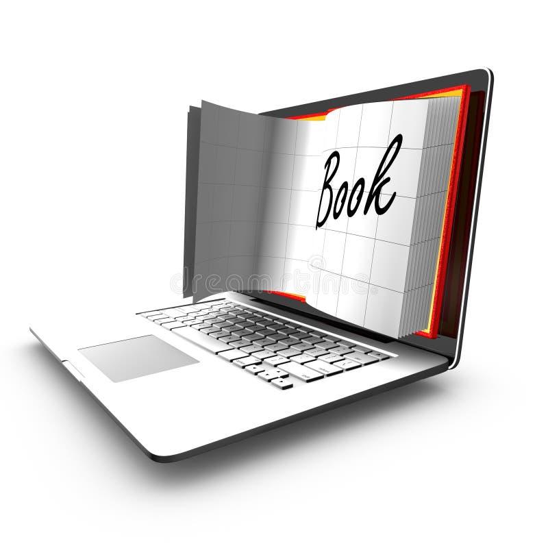 E-Learning: Computer oder Internet-Übertragung von Fähigkeiten lizenzfreie abbildung