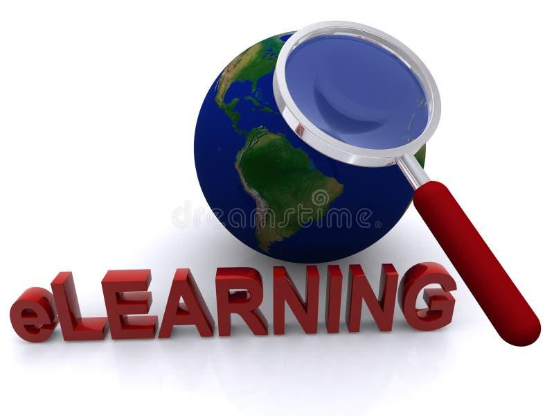 e-learning concept stock illustration