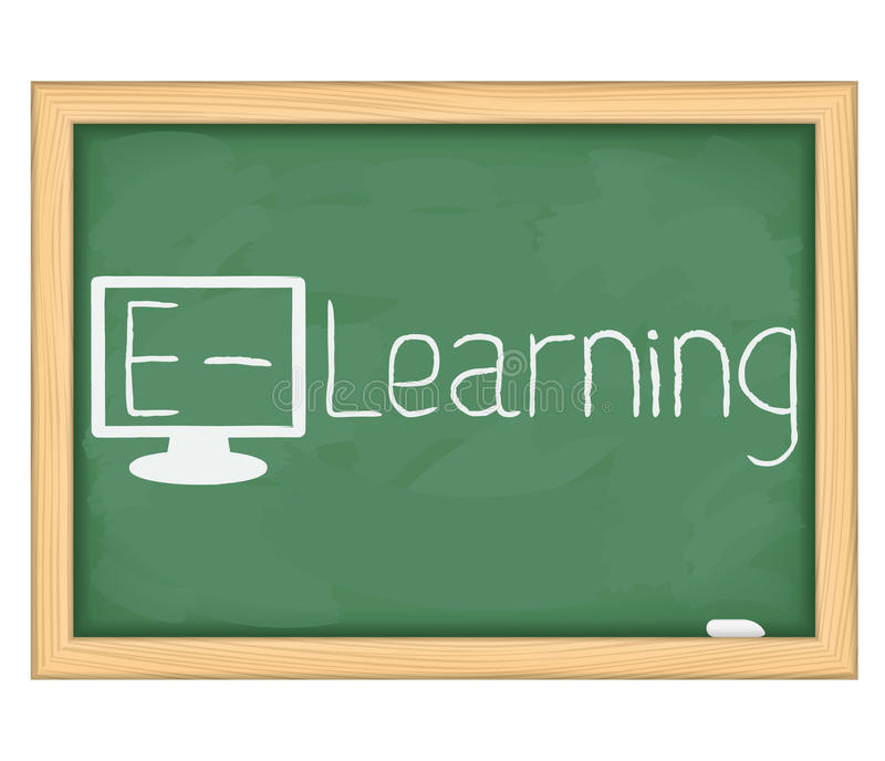 Download E-Learning concept stock vector. Image of blackboard - 26491936