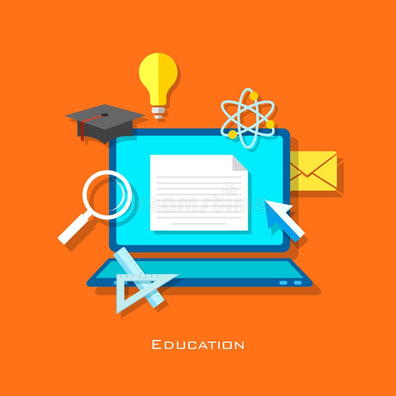 E learning Concept stock illustration