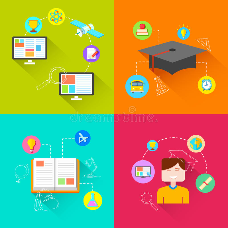 E learning Concept vector illustration