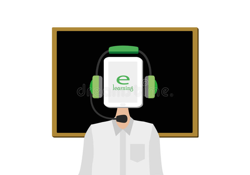 E-learning concept vector illustration stock photography