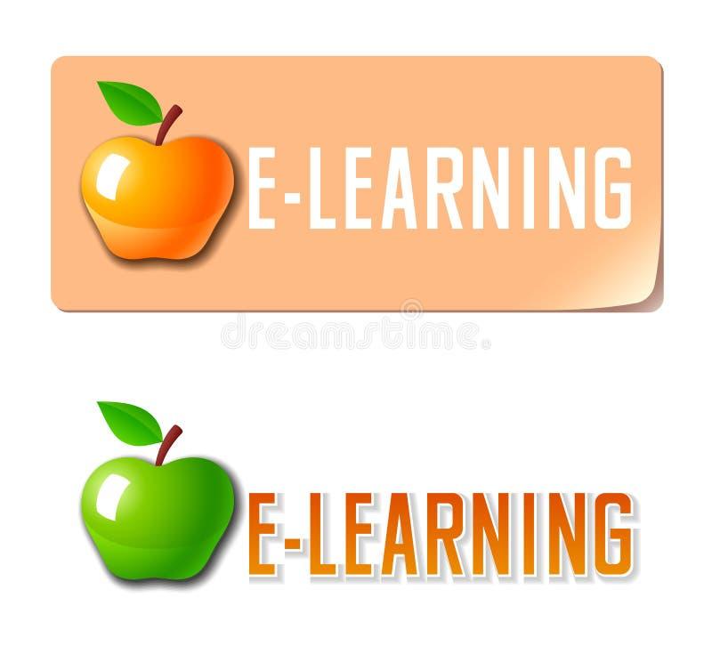 E-learning. Education icon stock illustration