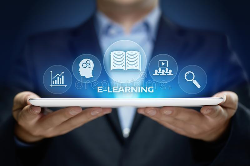 E-learning Education Internet Technology Webinar Online Courses concept royalty free stock images
