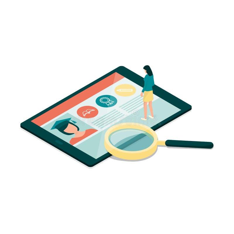 E-learning stock illustration