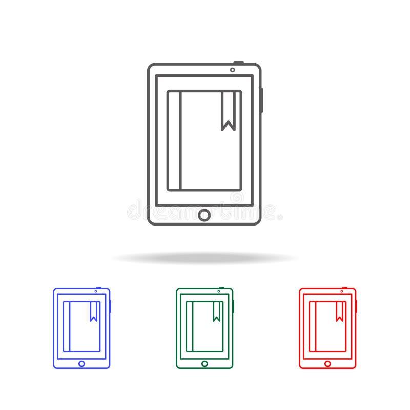 E-Learning-Ikone Elemente von multi farbigen Ikonen der Bildung Erstklassige Qualitätsgrafikdesignikone Einfache Ikone für Websit lizenzfreie abbildung