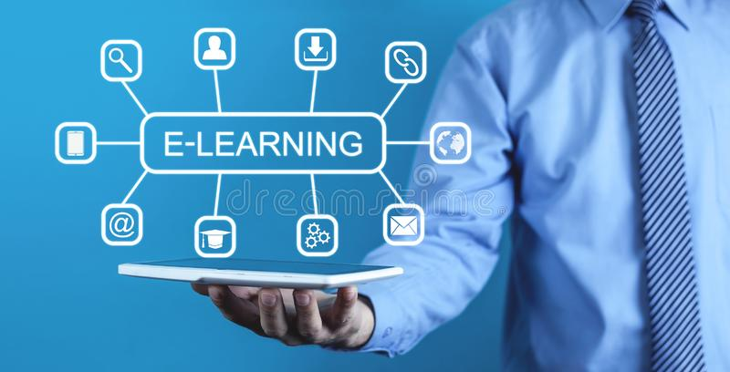 E-Learning. Internet education concept royalty free stock photography