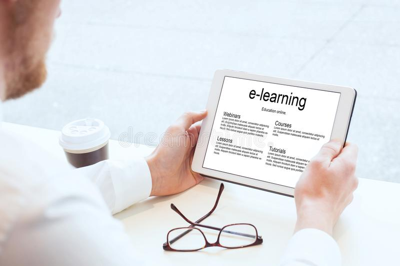 E-learning, learn online royalty free stock images