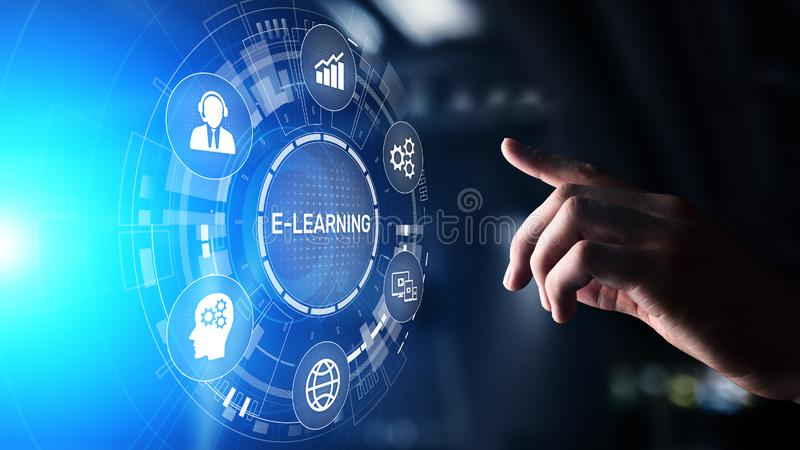 E-learning Online Education Training Webinar Seminar Personal Development and Professional growth. stock photo