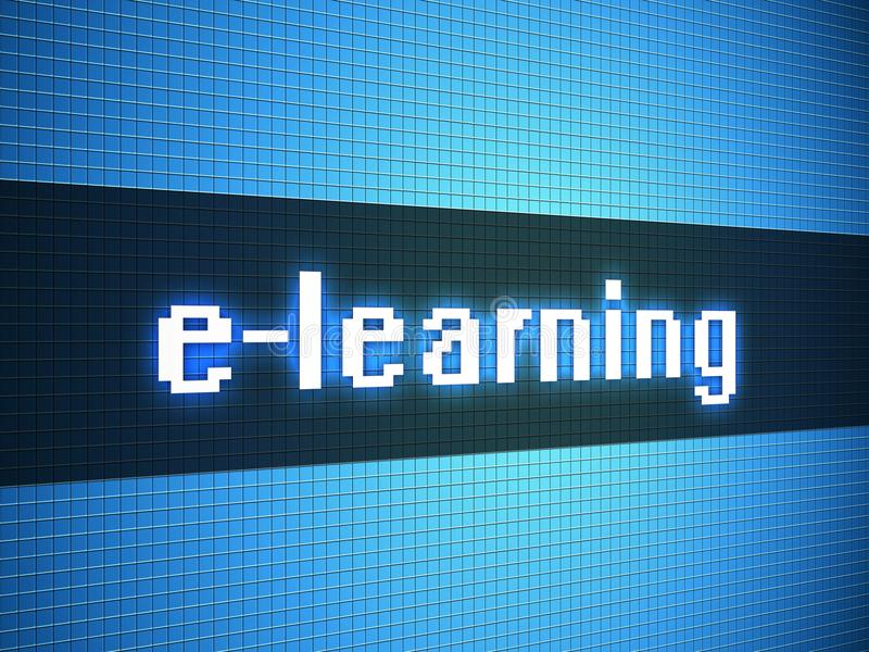 Download E-learning Word On Display Royalty Free Stock Image - Image: 29654616